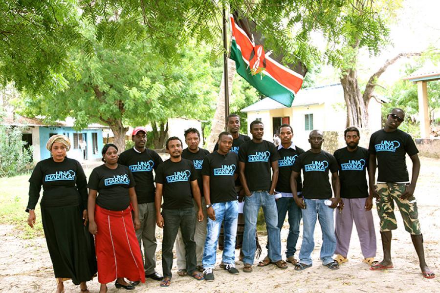 Una Hakika community ambassadors in the town of Kipini, Kenya