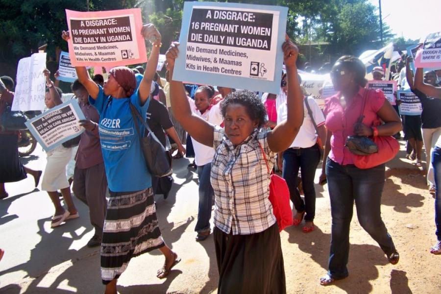 Protestors in Kampala