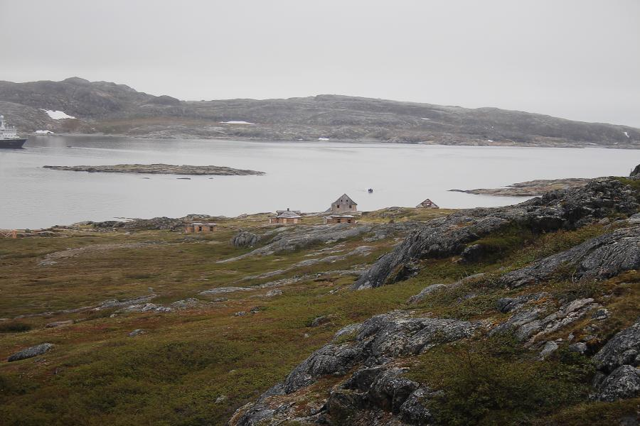 A few weathered wooden houses are all that remain of the Moravian missionaries who settled the Labrador coast