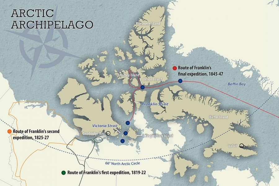 sir john franklin route arctic