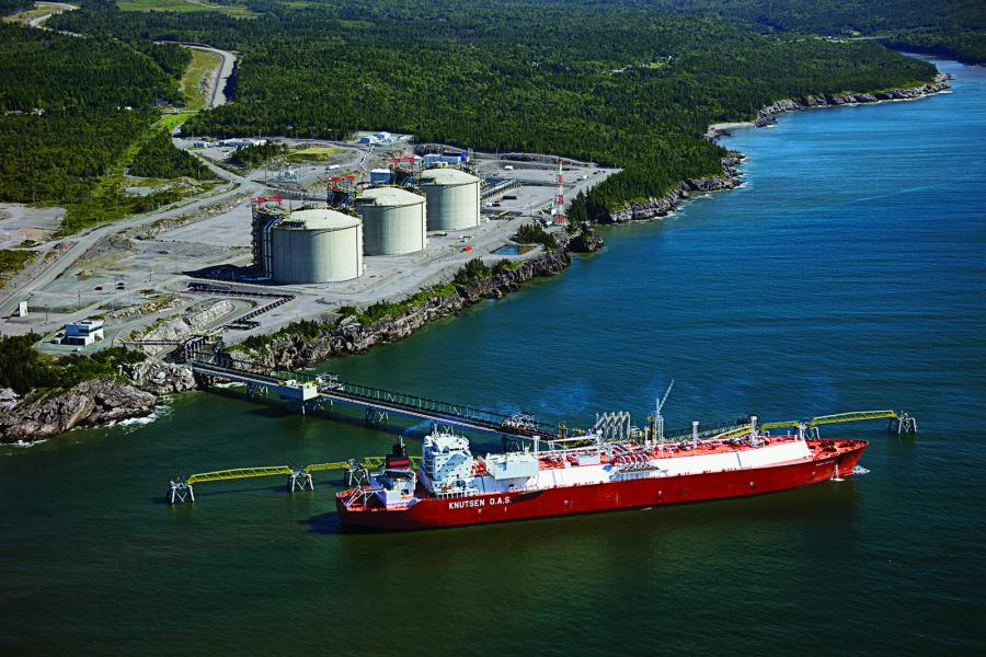 The Canaport liquefied natural gas terminal in Saint John, New Brunswick