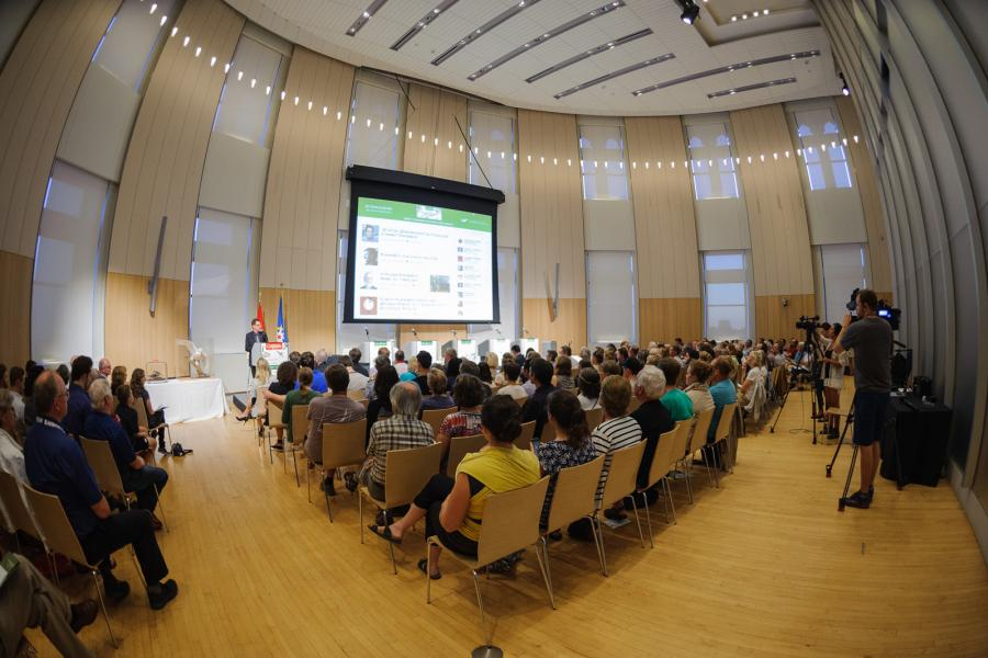 The scene at the Canadian Museum of Nature on September 19 for the National Bird Debate
