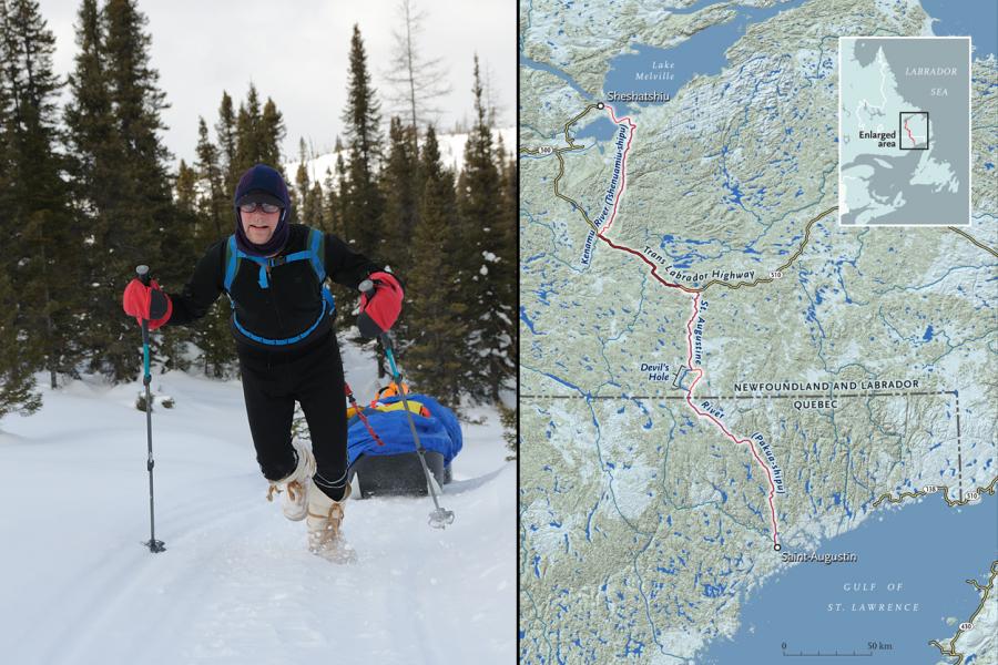 labrador snowshoe map