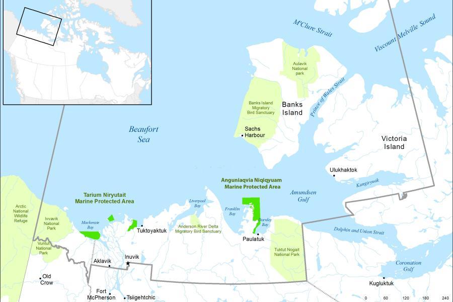 Anguniaqvia niqiqyuam Marine Protected Area map