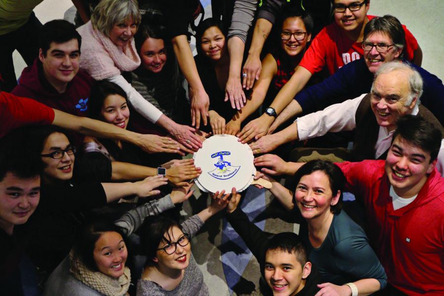 Students and staff at Nunavut Sivuniksavut Photo: Katherine Takpannie