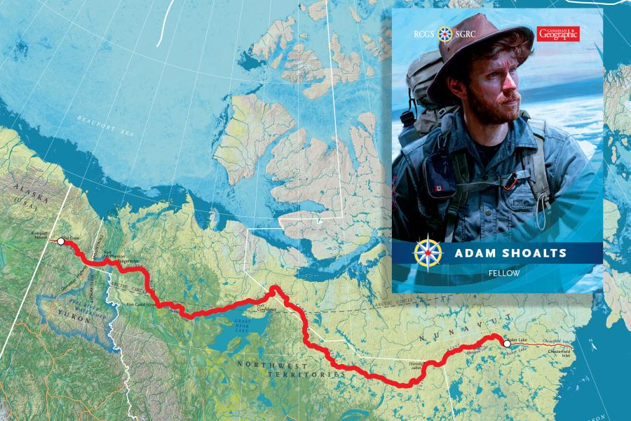 Adam Shoalts, Arctic, expedition, North, RCGS