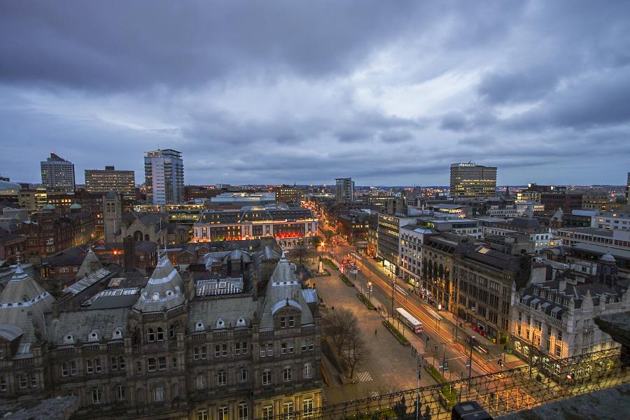Leeds city centre UK