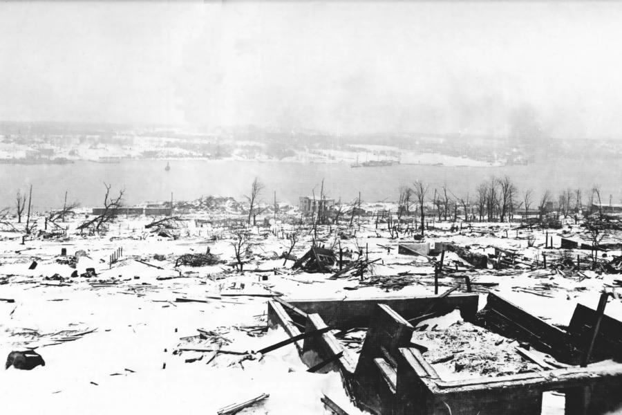 Halifax Harbour after explosion of December 6, 1917