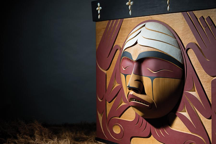 the Truth and Reconciliation Commission of Canada's bentwood box by Luke Marston