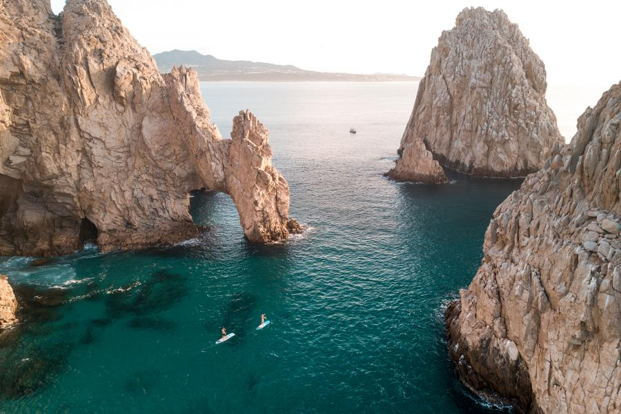Paddleboarders on the Sea of Cortez, Los Cabos, Mexico
