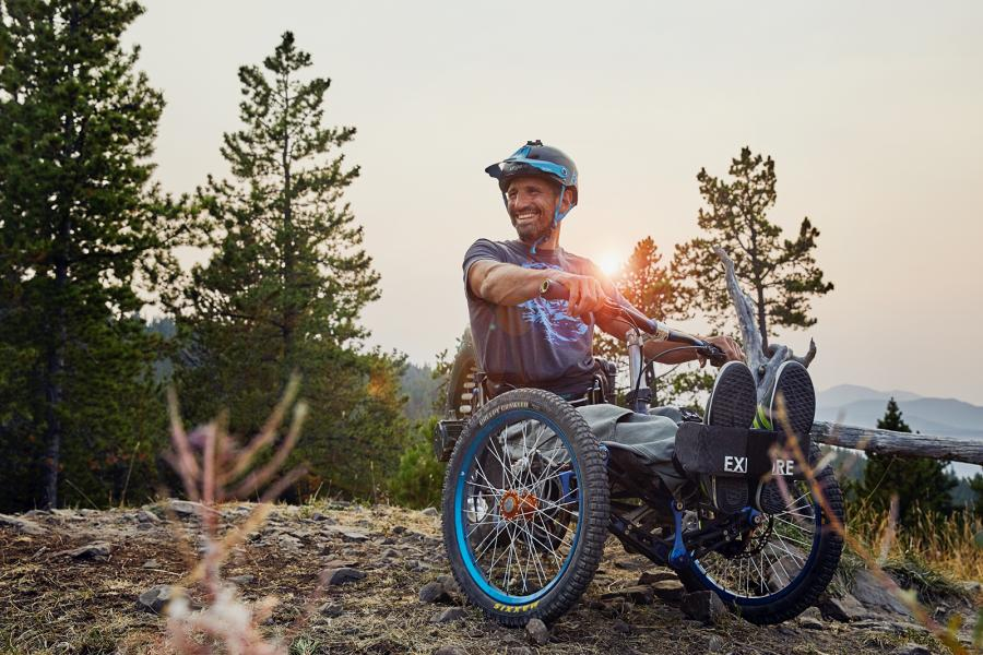 Christian Bagg, trail, invention, wheelchair, Great Trail
