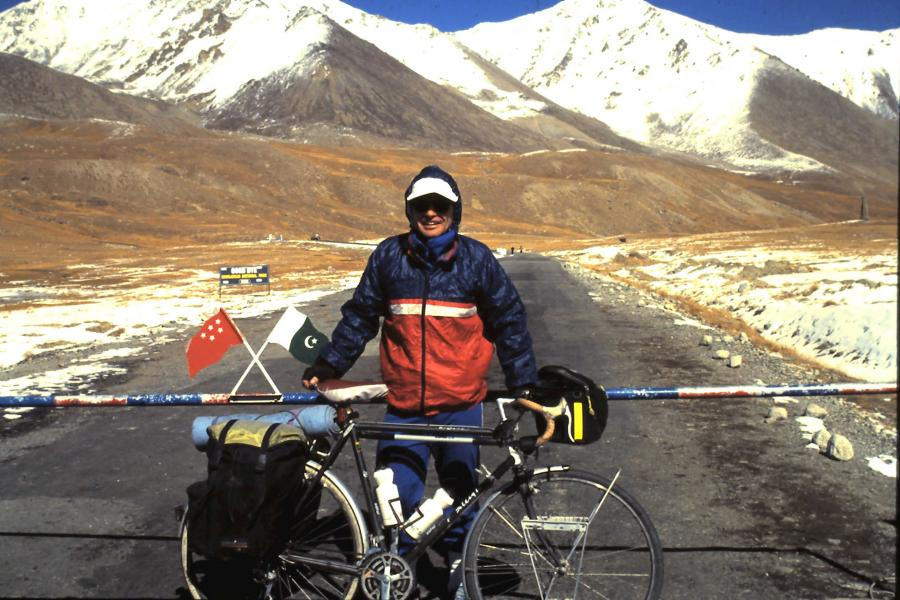 Geography teacher Steve Cope biked across most of Europe and Asia