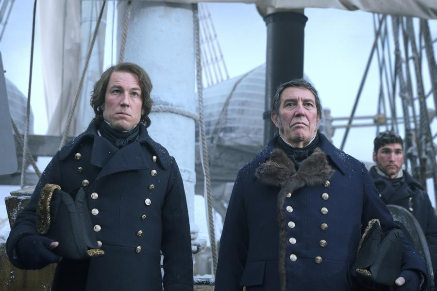 "Ciarán Hinds, right, as Sir John Franklin, and Tobias Menzies as James Fitzjames in the premiere episode of AMC's ""The Terror."" (Photo courtesy AMC)"