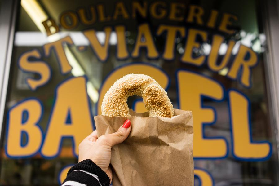 St-Viateur is famous for its Montreal-style bagels