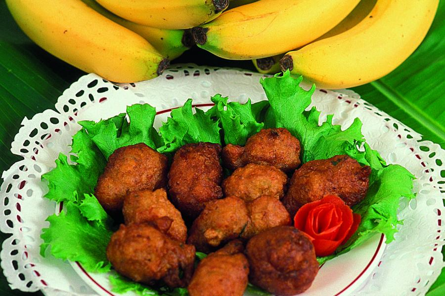 Accras (a.k.a. cod fritters) are a standard on menus featuring Creole cuisine in Guadeloupe.