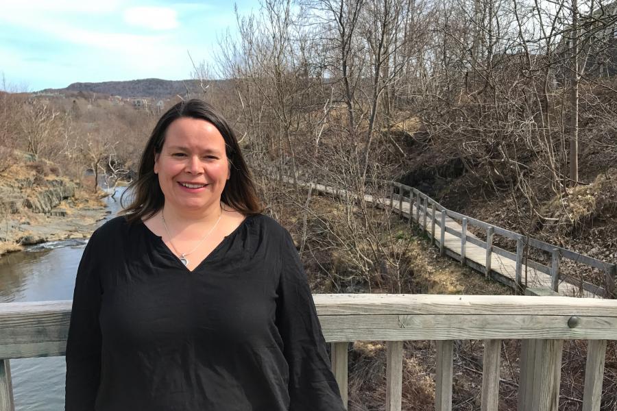 Geography teacher Sarah Baird Whelan