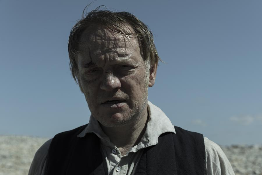 He's bruised and battered, but is Captain Francis Crozier (played by Jared Harris) beyond all hope in the tenth and final episode of The Terror? (Photo: Aidan Monaghan/AMC)