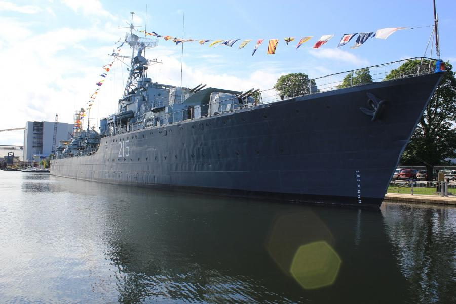 The HMCS Haida docked in Hamilton, Ontario