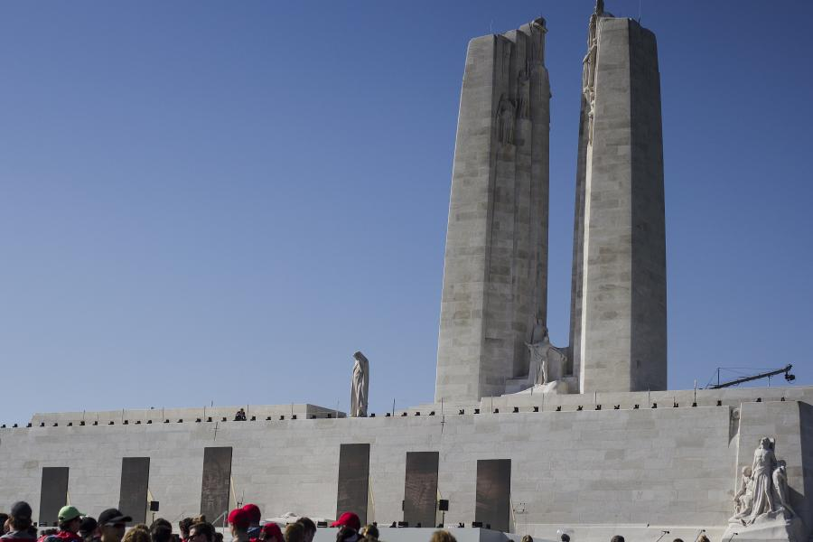 The Canadian National Vimy Memorial on the 100th anniversary of the Battle of Vimy Ridge