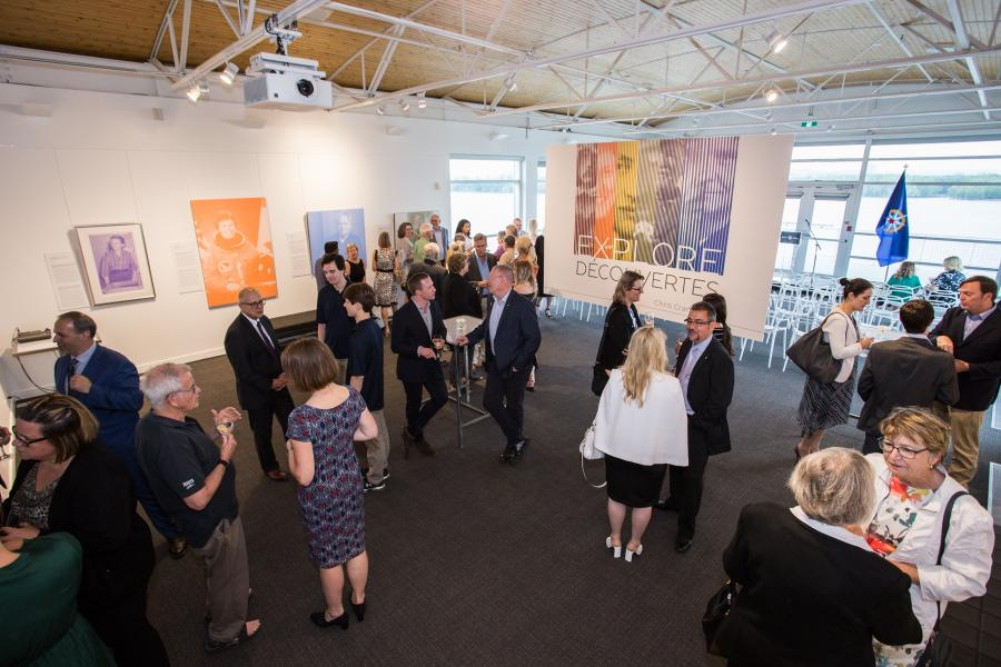 Guests at a launch event for the RCGS summer exhibit series