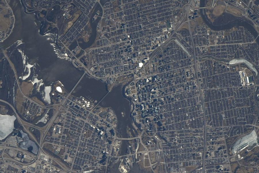 A photo of Ottawa from orbit