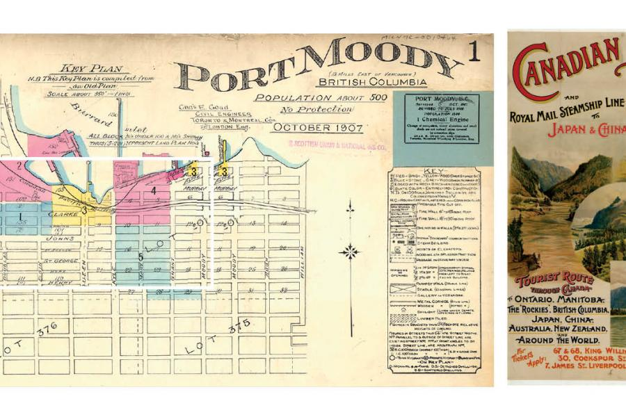 left a 1907 fire insurance map of port moody bc which at the time was emerging from the economic doldrums that followed the town being bypassed as the