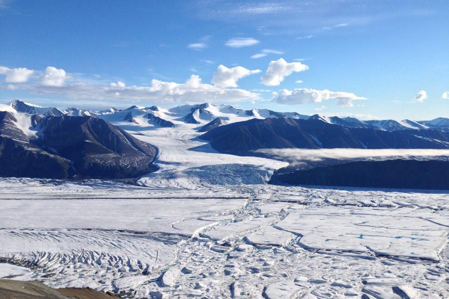 A glacier landscape on northern Ellesmere Island
