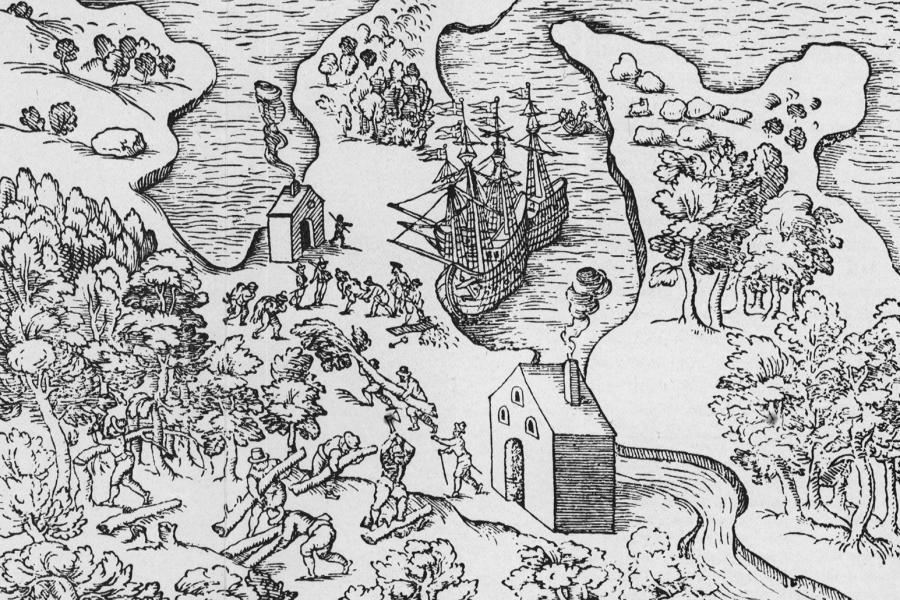 Map of Churchill Harbour by Jens Munk, 1624