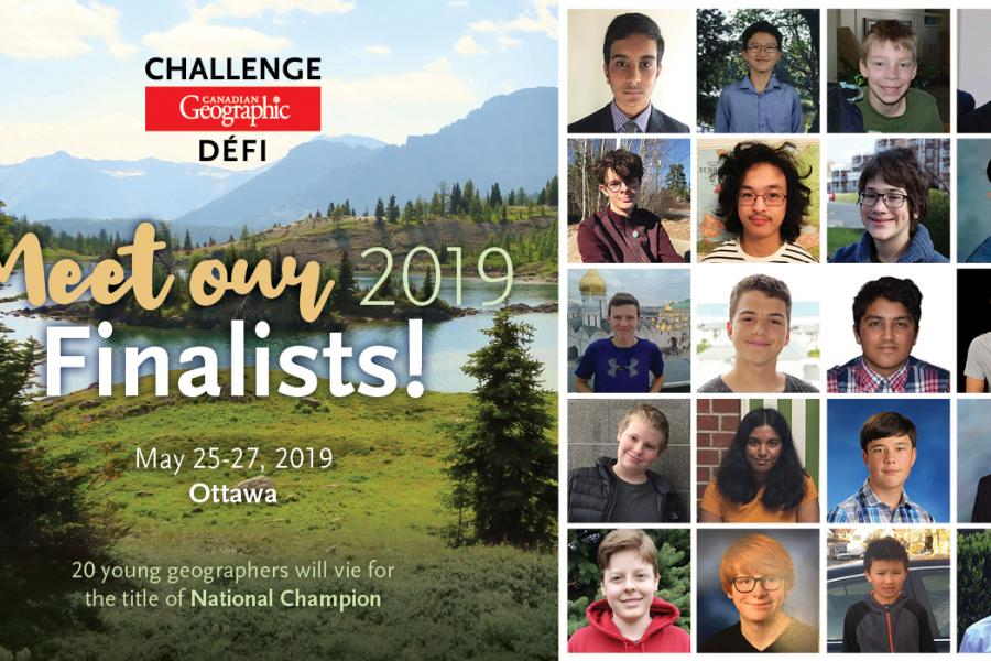 Top 20 students for the Canadian Geographic Challenge national final