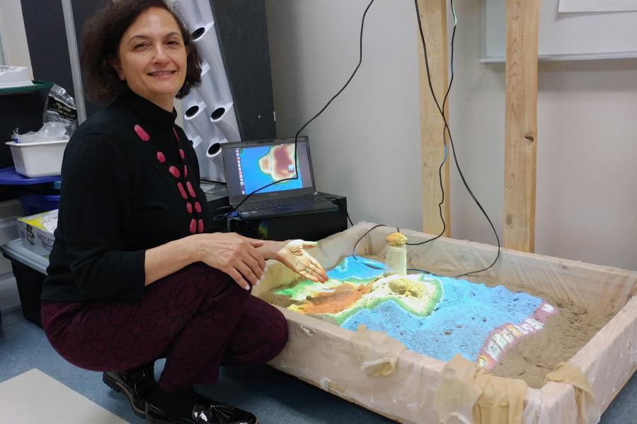 Ontario teacher an AR sandbox
