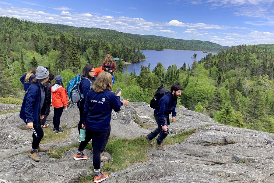 2019 Ocean Bridge youth on Lake Superior