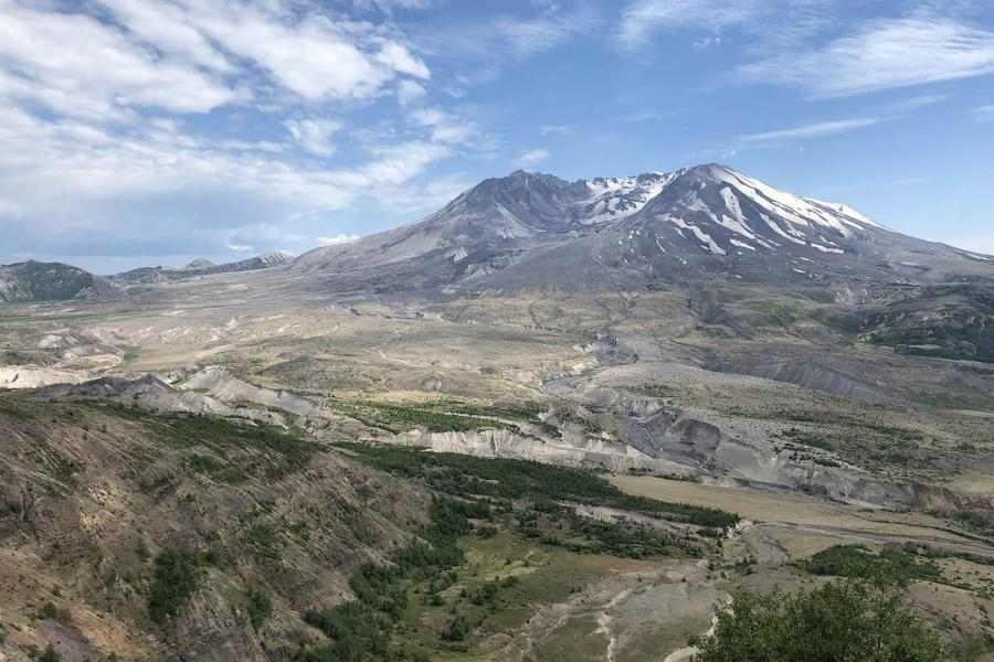 Mount Saint Helens viewed from the Johnston Ridge Observatory (C Stenner Photo)