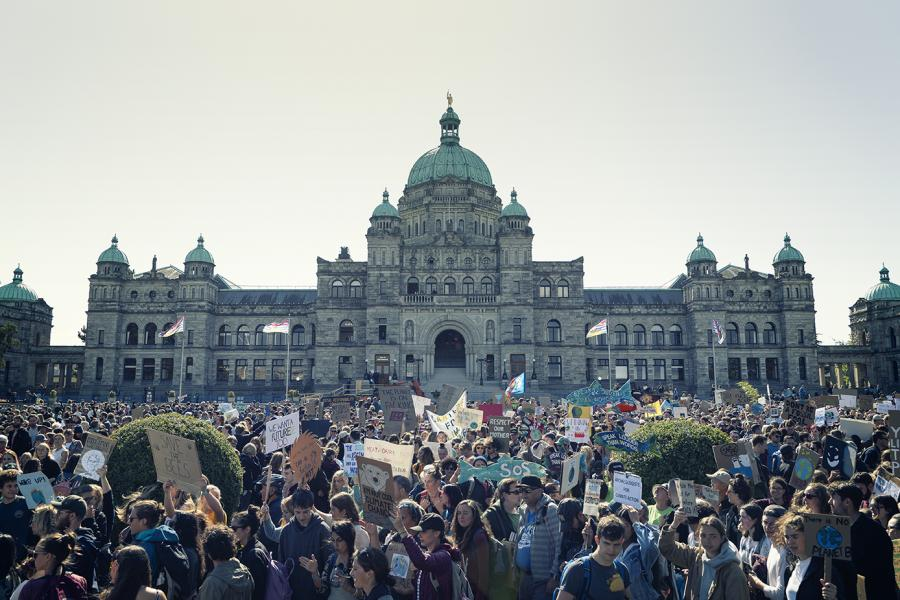 Climate strike Victoria BC