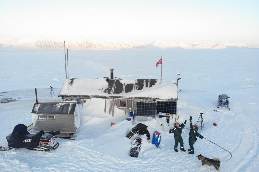 Bamsebu cabin in Svalbard, Norway