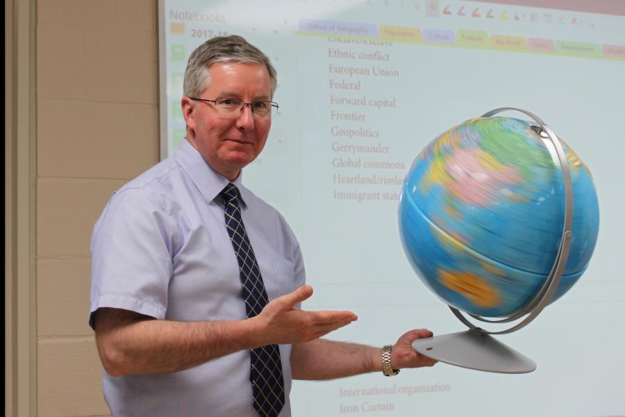 Ontario geography teacher in Aurora
