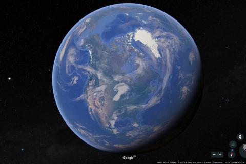 Screenshot of the new Google Earth
