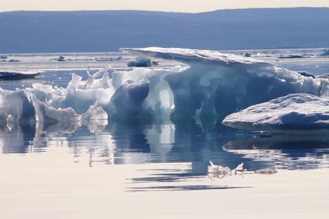 Sea ice on Frobisher bay