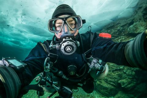 Nathalie Lasselin, RCGS Fellows, diving, exploration