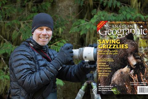 John E. Marriott, wildlife photographer, in the rainforest