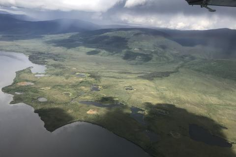 Peel River Expedition 2019 aerial view of Wind River