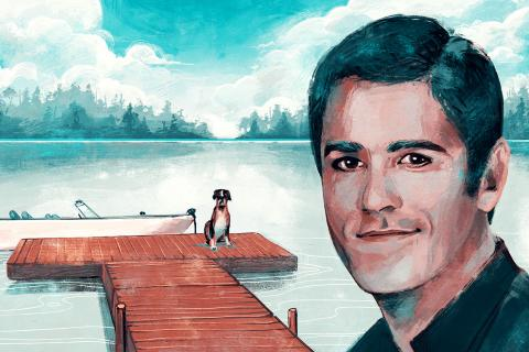 Yannick Bisson illustration by Micaela Blondin
