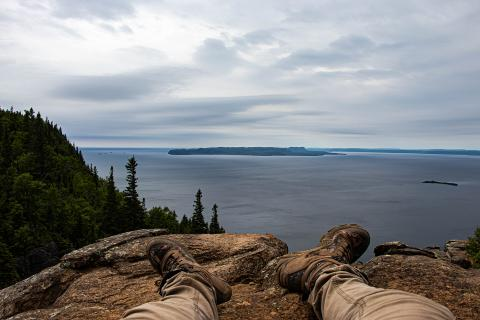 The view from Sleeping Giant Provincial Park on the North Shore of Lake Superior. (Photo: Connor Garrod)