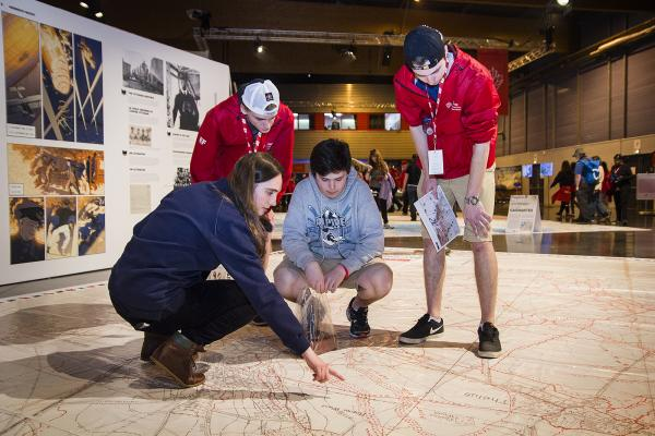 Canadian Geographic Education's Vimy Ridge trench map in Arras
