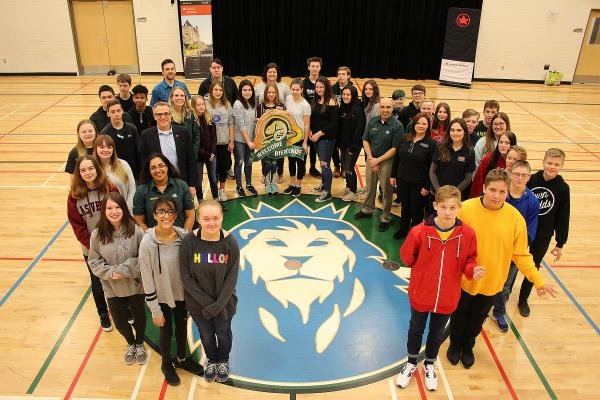 Mrs. Henderson's Grade 8 class at Dr. Roy Wilson Learning Centre in Medicine Hat are the winners of the 2018 Canada's Coolest School Trip competition