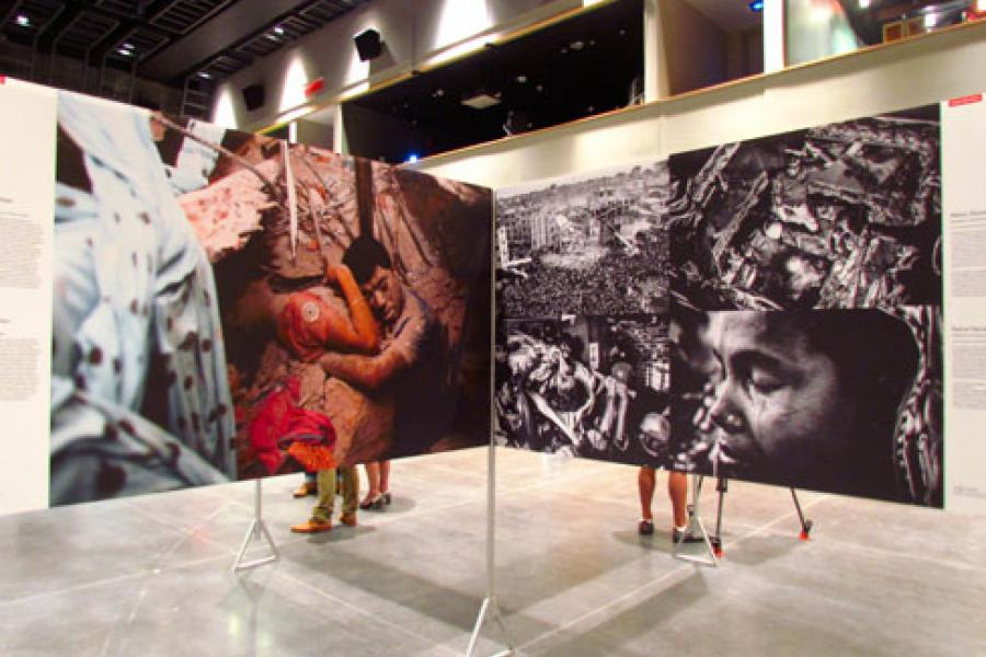 Part of the World Press Photo 14 exhibition