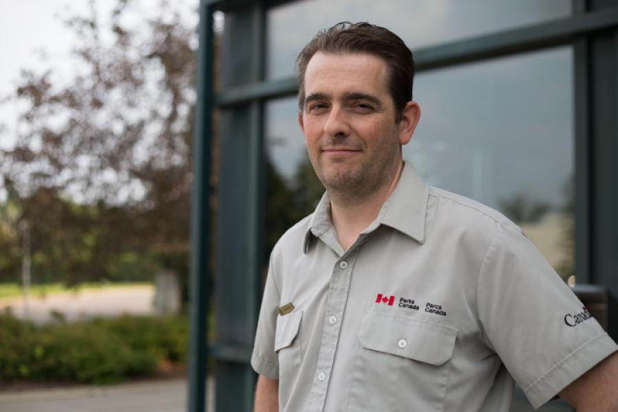 Ryan Harris, a marine archeologist with Parks Canada's Underwater Archaeology Service