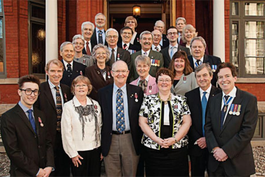 Some of the recipients of the Queen Elizabeth II Diamond Jubilee Medal