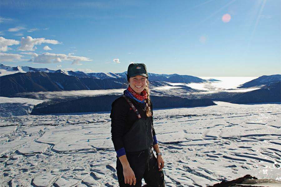 Adrienne White in July 2014, near Milne Fiord on northern Ellesmere Island.