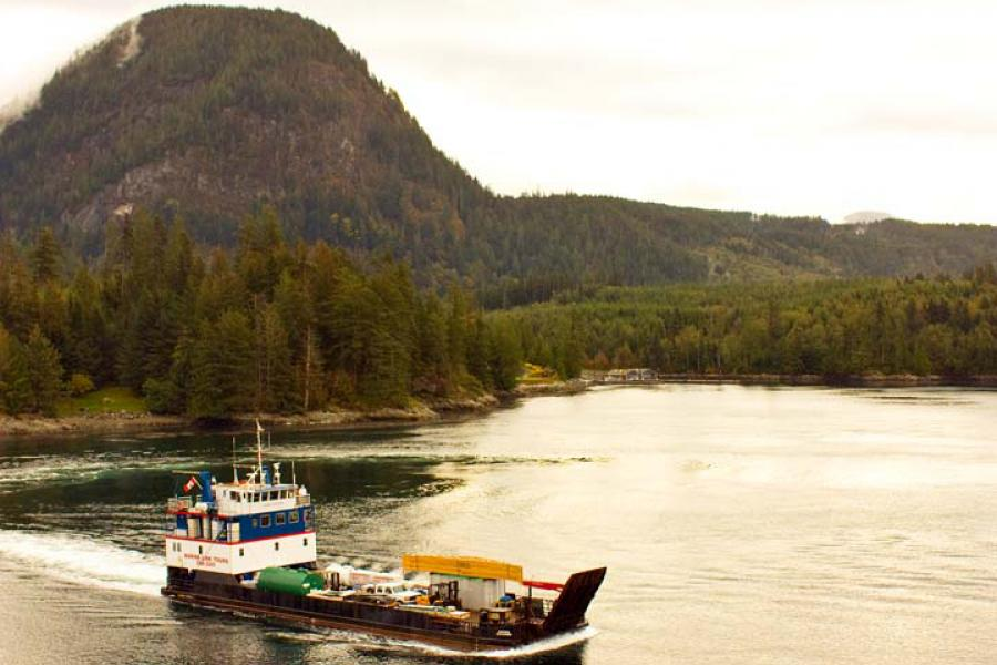 The Aurora Explorer chugs along the B.C. coast