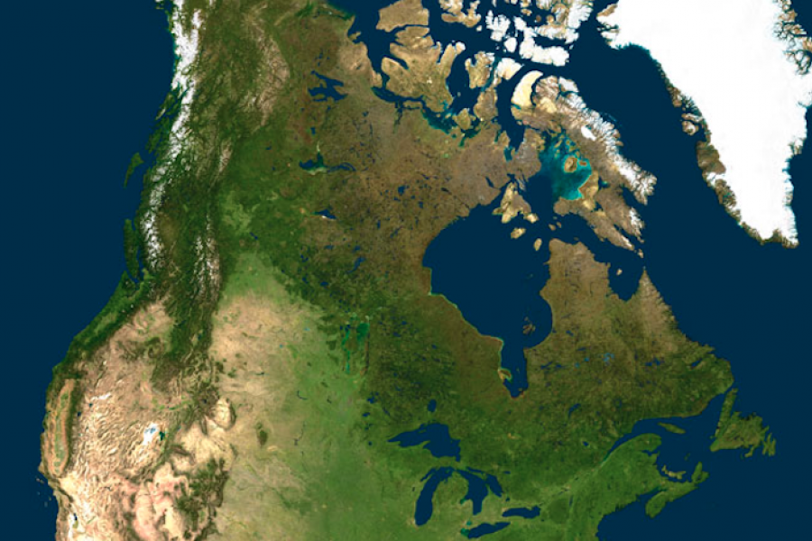 Canada Map Satellite Why satellite imagery makes maps worse | Canadian Geographic